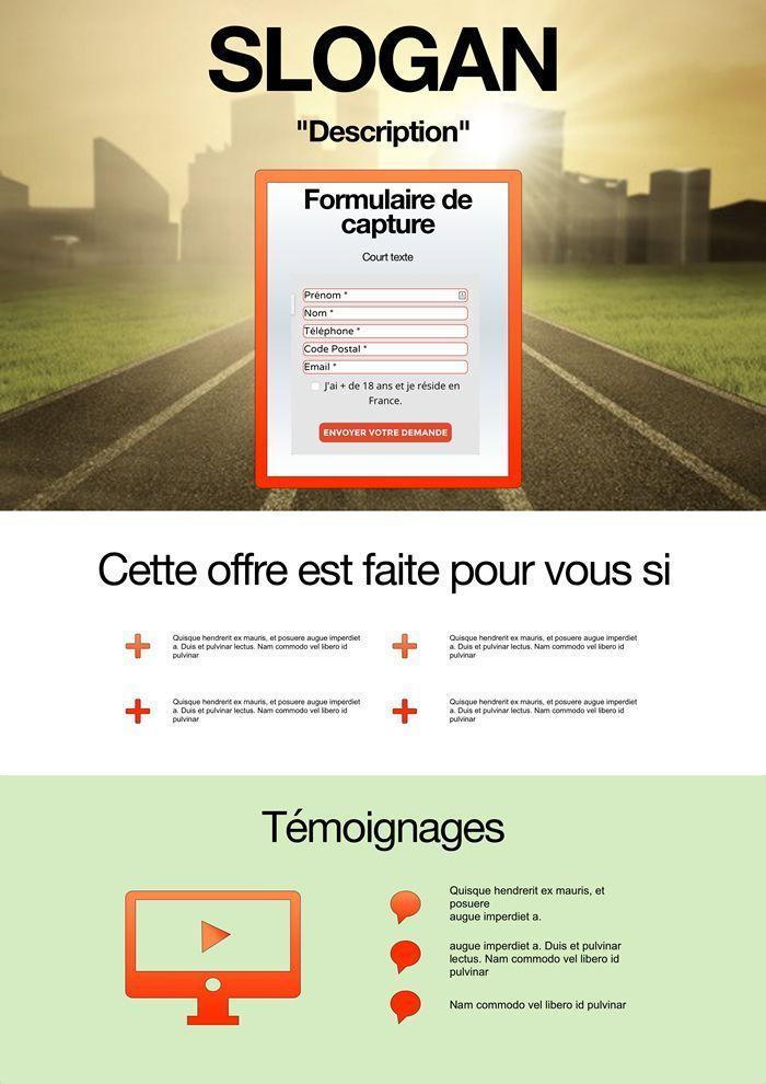 Exemple de site internet pour capturer des mails sur le site travail à domicile